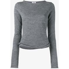 Acne Studios 'Janelle' sweater (€150) ❤ liked on Polyvore featuring tops, sweaters, long sleeves, shirts, grey, long sleeve sweater, shoulder cut out shirt, cutout shoulder sweaters, cold shoulder sweater and gray sweaters