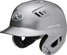 Rawlings Series Metallic Batting Helmet, Silver, Junior Metallic paint finish Heat exchange vents rapidly circulate cooler, ambient air Wrapped jaw pads for improved comfort Meets nocsae standard Junior Sizing - - Paintball Guns, Baseball Equipment, Personal Defense, Bicycle Helmet, Riding Helmets, Cool Things To Buy, Cool Stuff, Athletes, Metallic Paint