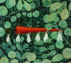 Satoe Tone, Carrot transport littlechien:  littlechien via firefluff firefluff:  Artwork by Satoe Tone
