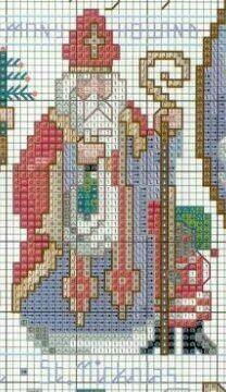 Sinterklaas, borduurpatroon