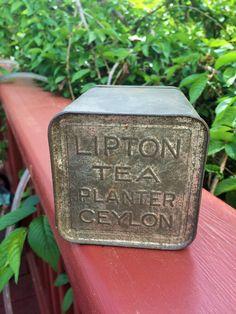 Two Vintage Lipton's Tea Tins by Florastreasures on Etsy