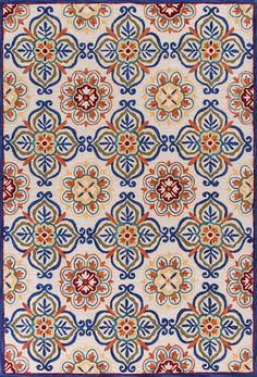 KAS Rugs Anise 2432 Ivory Florence Hand-Hooked Space-dyed Polyester x Textile Pattern Design, Textile Patterns, Small Area Rugs, Blue Area Rugs, Islamic Tiles, Discount Area Rugs, Machine Made Rugs, Wall Carpet, Aesthetic Backgrounds