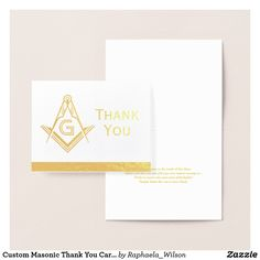 Masonic tablecloths and party decorations custom masonic for Masonic thank you cards