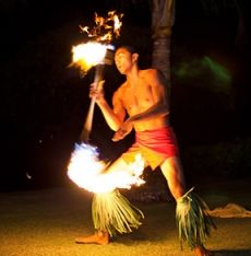 Entertain your wedding guests with a Hawaiian fire dancer. Wedding by Moana Events http://www.MoanaEvents.com