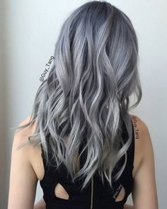 Gray/Sliver hair by guy tang hair стрижка, прически, балаяж Love Hair, Gorgeous Hair, Guy Tang Hair, Color Fantasia, Hair Color Highlights, Coloured Hair, Pretty Hairstyles, Men's Hairstyle, Funky Hairstyles