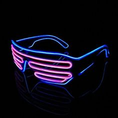73ce6dd70b Lerway Standard Control Box Neon El Wire LED Light Up Shutter Funny Amazing  Cool Glasses Eyeglasses
