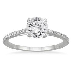 Shop for 14k White Gold 1 1/6ct TDW White Diamond Cathedral Engagement Ring (I-J, I2-I3). Get free delivery at Overstock.com - Your Online Jewelry Destination! Get 5% in rewards with Club O!
