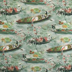 S3630 Silversage Greenhouse Fabrics, Teal Fabric, It Is Finished, Repeat, Pattern, Prints, Fire, Painting, Content
