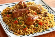Chicken Machboos is the national dish of Bahrain. A spiced chicken and rice…
