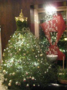 Christmas dress form