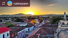 #Follow @caitneyann: Beautiful #sunset over #Granada #Nicaragua #ILoveGranada #AmoGranada #Travel