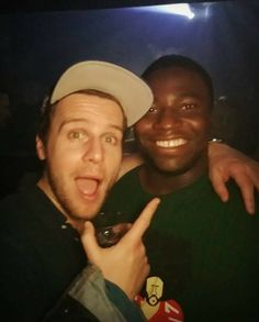 Jonathan Groff, hanging out with former Hamilton castmate Oak in LA, 7 April 2018.