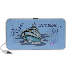 """""""Dad's Music"""" Motorboat Mini Speaker by MoonDreams Music #minispeaker #music #boat #beach #motorboat #dad #FathersDay #dadsmusic"""