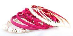 Pastoralism Cloth Woven Multilayer Rose Bracelets for Women