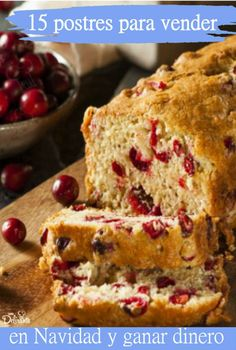 **Grandma's Delicious Old Fashioned Cranberry Orange Bread Recipe** Pecan Bread Recipe, Bread Recipes, Cranberry Orange Bread, Plum Cake, Pan Dulce, Muffins, Tortilla, Christmas Desserts, Sweet Recipes