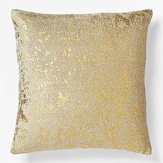 Metallic Texture Pillow Cover - sponge  metallic fabric paint, perhaps?