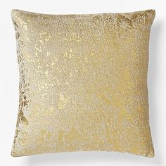 West Elm, Metallic Texture Pillow Cover - Gold - $39