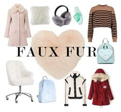 """""""Faux Fur"""" by cici-rahma on Polyvore featuring Nordstrom, T-shirt & Jeans, PBteen, Miss Selfridge, BCBGeneration, T By Alexander Wang, Veronica Beard and Puma"""