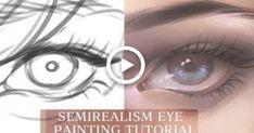 [MediBang] Semirealism Eye - TUTORIAL #drawing Blue Drawings, Loose Wedding Hair, Eye Drawing Tutorials, Creative Wedding Cakes, Matching Wedding Rings, Male Torso, Eye Painting, Gesture Drawing, Eye Tutorial