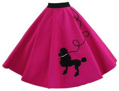 Poodle skirt- I think mine was black with pink poodle or it may have had musical note instead...too old to remember