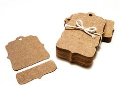Perforated Hang Tags, Kraft Price Tags - Bracket Shape - 100 Blank with Tear Off Section - Boutique Swing Tag via Etsy
