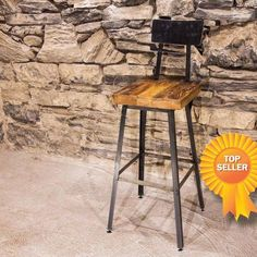 Brew Haus Industrial Style Bar Stools with Scooped Backs Available in or Urban industrial style at its best! These bar stools are the perfect balance of Bar Stool Chairs, Wood Bar Stools, Solid Wood Dining Chairs, Counter Stools, Wood Stool, Kitchen Stools, Bar Counter, Reclaimed Wood Bars, Bar Stools With Backs