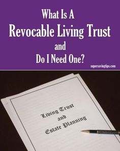 If you're wondering what is a Revocable Living Trust and if you need one, this introduction will help you determine if it can benefit you and your family. Funeral Planning Checklist, Retirement Planning, Emergency Planning, Retirement Advice, Financial Tips, Financial Planning, Family Emergency Binder, When Someone Dies, Life Binder