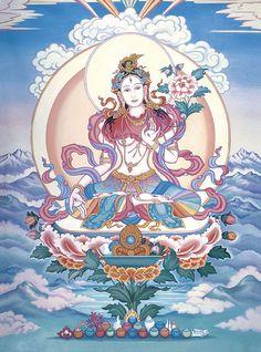 Another Tara...White Tara; Buddha of longevity, serenity, and healing.