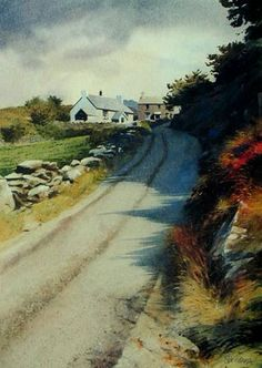 Road to Cwm Pennant, Open Edition Print (Offset-Litho) from an original watercolour painting by Rob Piercy