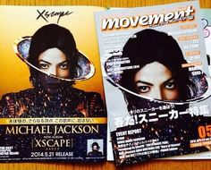 """Michael Jackson's new album """"Xscape"""" - covers from a Japanese magazin - April 2014"""