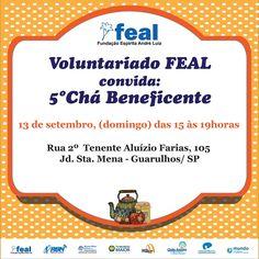 FEAL convida para 5º Chá Beneficente em Guarulhos/SP - http://www.agendaespiritabrasil.com.br/2015/09/06/feal-convida-para-5o-cha-beneficente-em-guarulhossp/