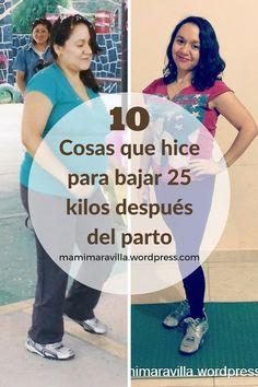 10 cosas que me ayudaron a bajar 25 kilos después del parto | Fabi Maravilla