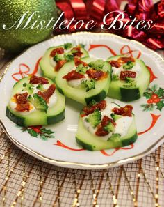 Are you trying to enjoy a wonderful Christmas without packing on the pounds? Try this amazing Mistletoe Cucumber Bites recipe made with Opadipity Greek yogurt ranch dip as a healthy alternative at Christmas parties!