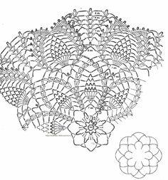 crochet doily symbol diagram Crochet Doily Diagram, Crochet Mandala, Crochet Art, Thread Crochet, Knit Or Crochet, Crochet Motif, Crochet Doilies, Crochet Things, Doily Patterns