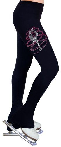 $54.99 awesome Figure Skating Pants with Rhinestones R254RP - Adult Extra Small