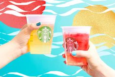 Just in time for the long, sun-drenched days of summer, Starbucks is offering two new Cold Foam Tea Lemonades, Summer Sunrise and Summer Sunset. Khao Lak Beach, Railay Beach, Sunset Drink, Lamai Beach, Beach Cocktails, Koh Chang, Starbucks Drinks, Summer Sunset, Beach Bars