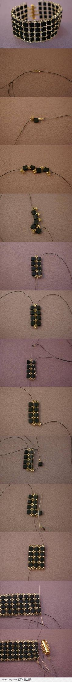 DIY Beadwork Bracelet DIY Projects | UsefulDIY.com na Stylowi.pl