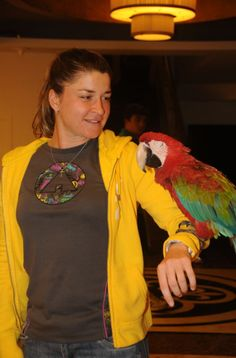 Alexandra Dulgheru si papagalul Sultan, in Antalya