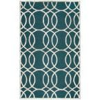 Monroe Dark Teal 8 ft. x 10 ft. Area Rug
