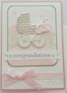 Didn't really know where I was going with this card, but knew I wanted to create the pram the way I did - reminds me of an old fashioned pram. More details may be found - http://sunshinecards-creations.com/2015/01/30/tssc-351/ TFL Vicky