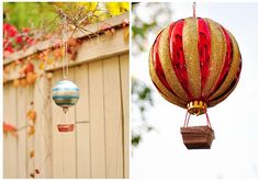 Sparkling and Colorful DIY Hot Air Balloons Christmas Ornaments