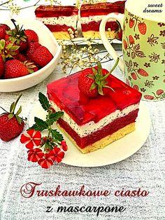Truskawkowe ciasto z mascarpone