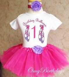 Fast Ship  Birthday Pink Purple Ballet by BirthdayTutuOutfits