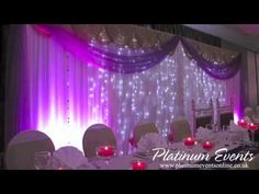 Platinum Events- Full Wedding Event Decor At The Leicester Tigers Rugby Club. Platinum Events provided the Exclusive Head Table & Cake Table, Ceiling Draping With LED Twinkle Lights, White LED Dance Floor, Performer Stage With LED Vision Cloth, Full Venue LED Mood Lighting and The Fresh Flower Arrangement Centrepieces For More Info: Cal...