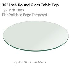 Nice 30 Round Glass Table Top