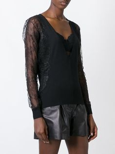 La Perla 'Leisuring' lace sleeve jumper