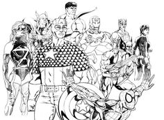 Marvel avengers coloring pages - Enjoy Coloring