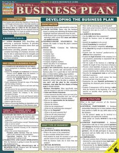 Whether you are majoring in business, looking for investors or developing solid plans for your boss or your own business, this guide can pave the way and/or be there for you when you need a refresher. This 4-page guide includes: why create a business plan, things to consider when developing a plan,