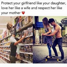 Couples goals Protect her like a daughter.idk depends what is meant there 😂 otherwise fact. Protect her like a daughter.idk depends what is meant there 😂 otherwise facts 😂 Boyfriend Goals Relationships, Boyfriend Goals Teenagers, Relationship Gifs, Relationship Goals Pictures, Future Boyfriend, Boyfriend Stuff, Boyfriend Boyfriend, Healthy Relationships, Perfect Boyfriend List