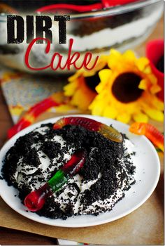 easy desserts for parties, sweet, easy desserts for kids to make, dirt cake, cakes, food, cake recip, yummi, unbeliev delici